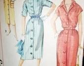 Vintage SIMPLICITY PATTERN, 1957 Dress Pattern, Size Junior 15, Bust 35,