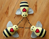 Baby Bee Buddy Plush Rattle - Teetoo for Honeylove - Ready to Ship