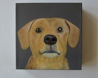 pet portrait, dog painting, portrait, puppy, dog lover gift idea - 8x8 custom pet portrait- pet painting- gift idea for dogs- dog gift idea