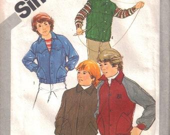 Boys Jacket Pattern Boys Vest Pattern Uncut Size 8 Vintage 1981 Simplicity 5252