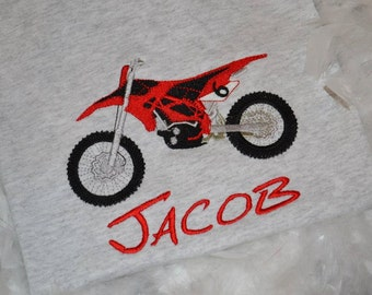 Motocross Dirtbike Embroidered T-shirt