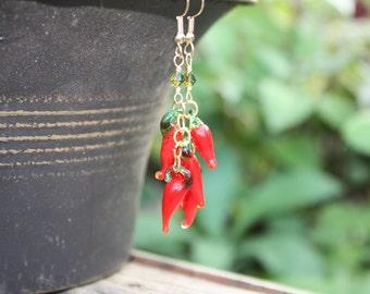 Chili Pepper Earrings Chili Pepper Jewelry Red Pepper Earrings Red Earrings Food Jewelry Hot Pepper Vegetable Jewelry Food Earring Chilis 27