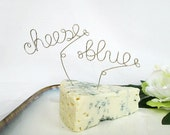 4 Cheese Markers - Great Gift Idea, Cheese Tags, Cheese Name Marker, Hostess Gift,Personalized Gift,Cheese Party,Cheese Name,Wine and Cheese