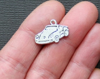5 Sports Car Charms Antique  Silver Tone - SC1052