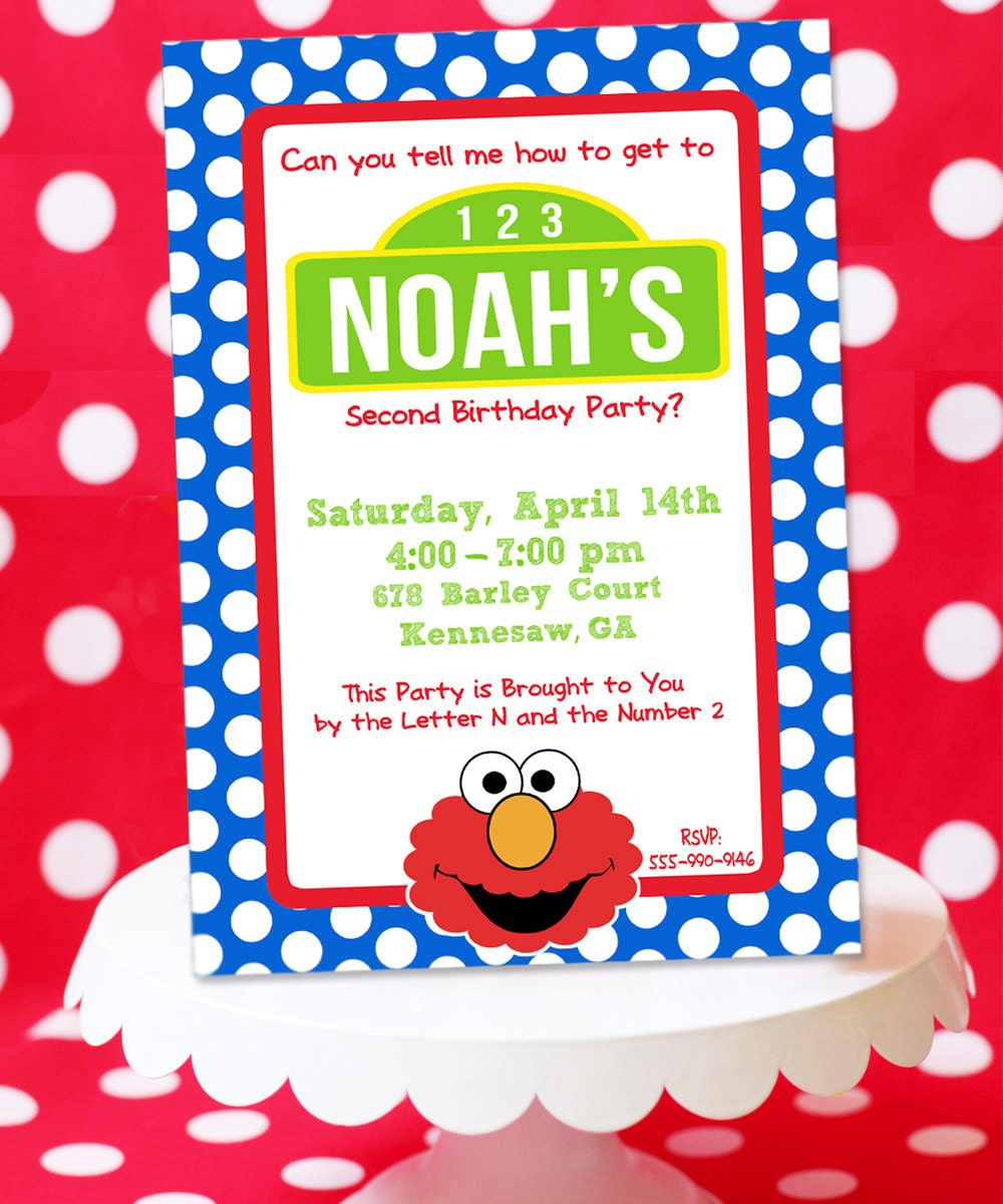 Elmo Ticket Invitation Template Aspects Of Beauty Is The One Stop – Elmo Birthday Invitations Template