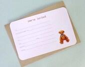 Teddy Bear Invite - with envelopes