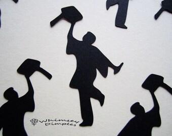 Graduation Confetti, Guy Grad Confetti, Die Cuts Party Sprinkles Unique Graduate Table Scatter Color Options