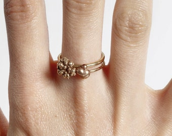 Dew Drop Stacker Rings