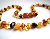 Multicolour  Baltic Amber  Baby Teething Necklace.  Pain relief effective.