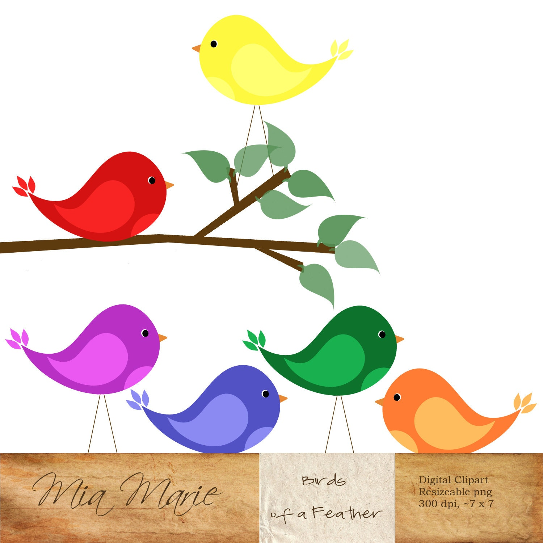 INSTANT DOWNLOAD Digital Clip Art Bird Clipart By MyMiaMarie