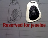 RESERVED FOR JESELEE - free form sterling silver pendant with tiffany stone - custom order