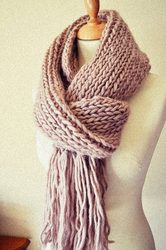 Knitting Chunky Scarves : Chunky knit scarf wide pastel by
