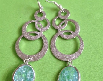 Bridal Silver and Crystal Earrings