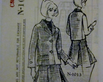Spadea N-1013 Doris Day Womens 60s Designer Dress and Suit Sewing Pattern Size 12 Bust 35