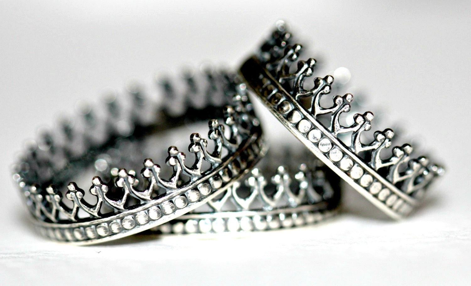 crown ring antique crown rings sterling silver by eklektisch