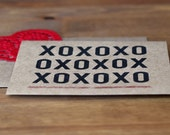 Love Card Set of 10 - XOXO Black and Red Kraft Greeting Cards