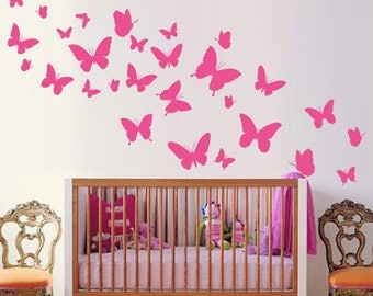 Vinyl Wall Sticker Decal Home - Butterflies