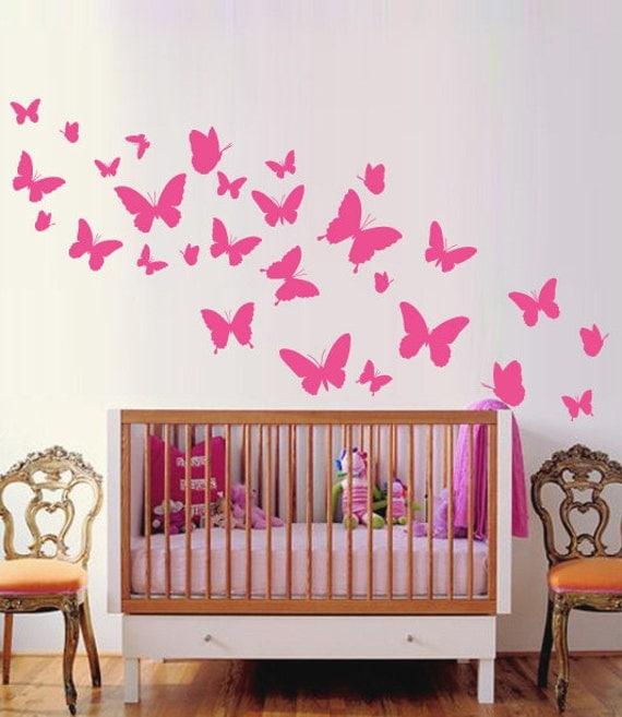 Butterflies Nursery Wall Sticker, Butterflie Decal Baby Room Decor Art, Butterflies Wall Decals Australian made