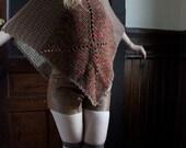 earthy knit poncho