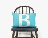 12x18 Personalized Outdoor Pillow Cover | Bird, Letter, Symbol, Text, Word | Monogrammed Patio Cushion, Pillow case | Summer Home Decor