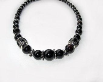 Exquisite Genuine Garnet & Sterling Silver Necklace