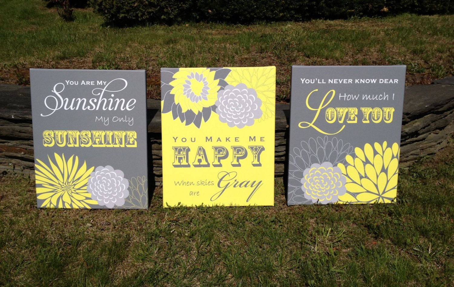 You Are My Sunshine Wall Art you are my sunshine wall art flower nursery canvas art print