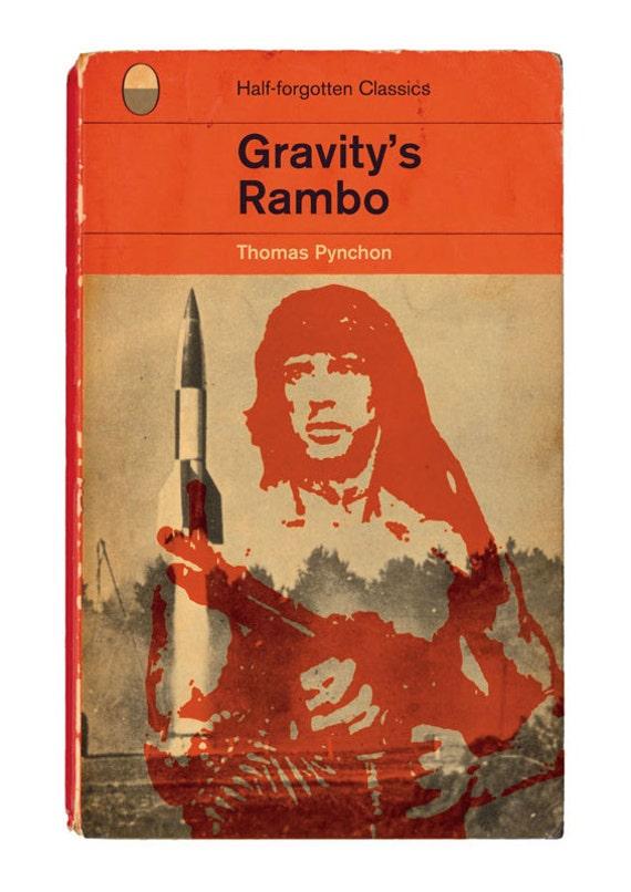 Gravity's Rainbow / Rambo by Thomas Pynchon - Half-forgotten Classics Poster Print