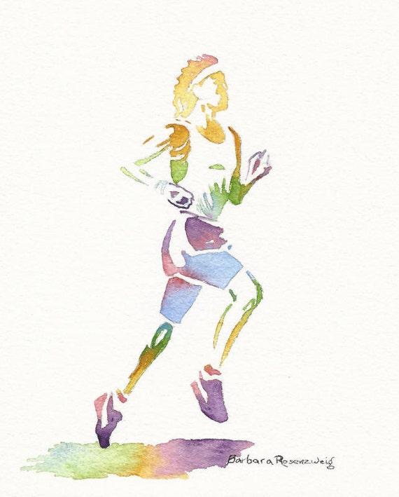 Runner Paintings Runner sports athlete art