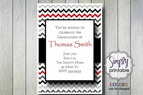 Chevron Graduation or Retirement Invite