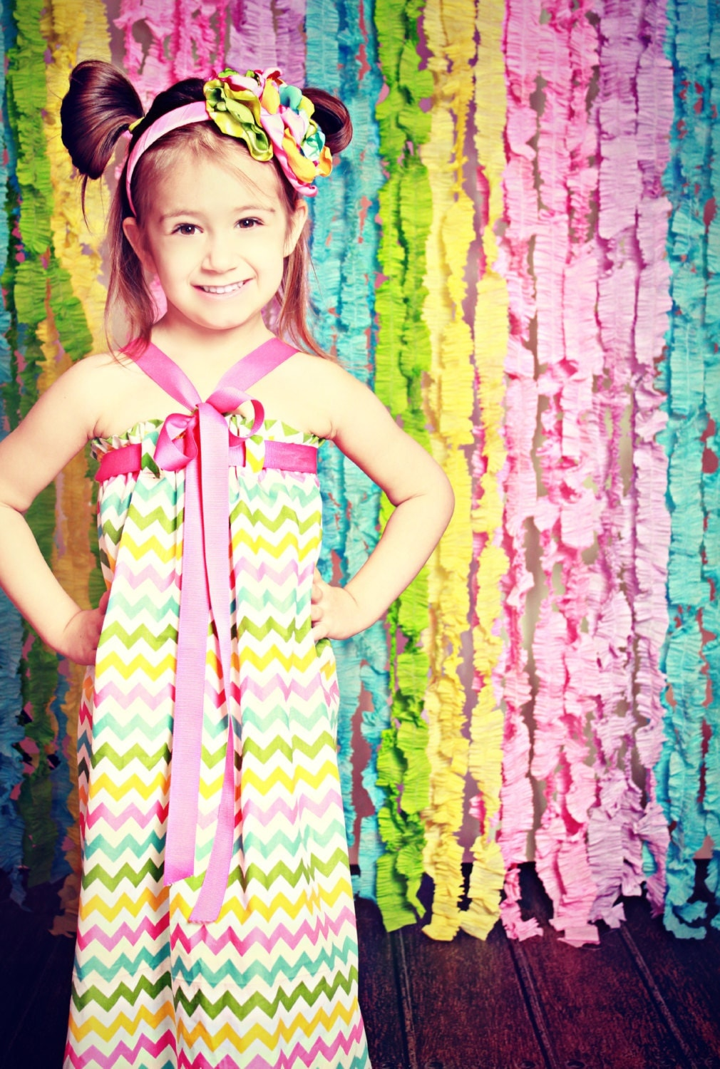 Crepe Paper Backdrops Candyland baby shower decoration