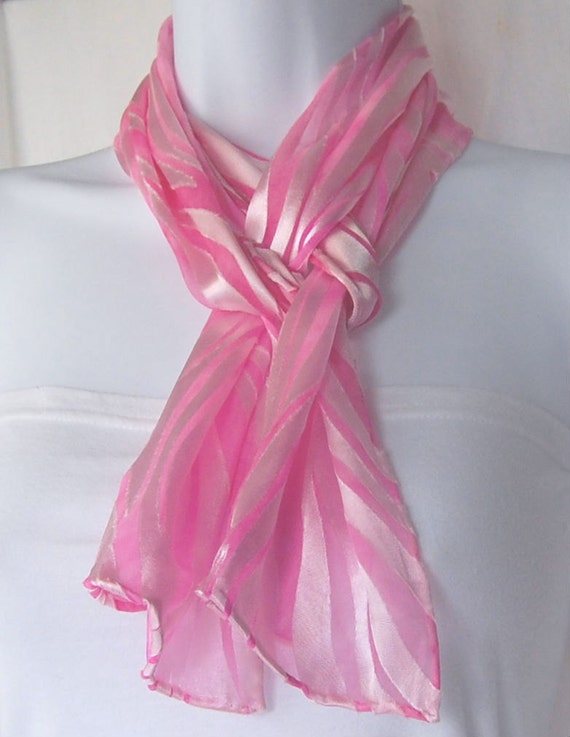 dyed silk scarf painted scarves pink satin