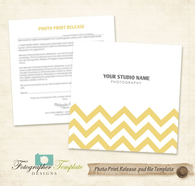 Chevron Print Release Form Template Photography Forms A708