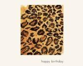 Leopard Birthday Card - happy birthday, tacky hooker