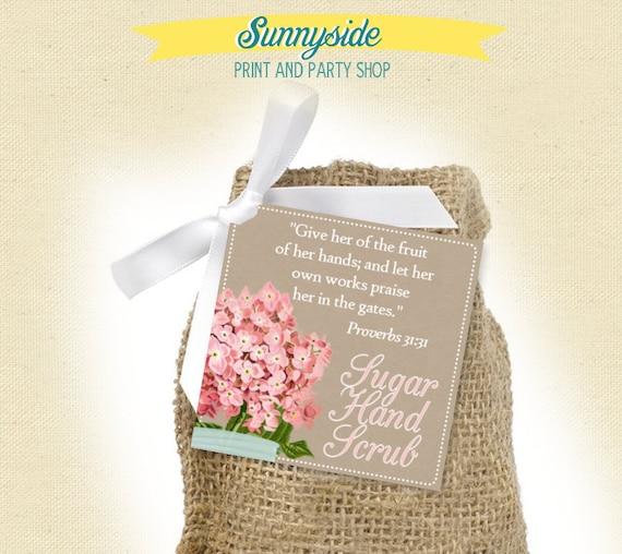 kraft bridal shower favor tags, digital / printable, any wording ...