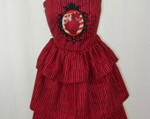 Valentine Striped Punk Dress with tiered skirt