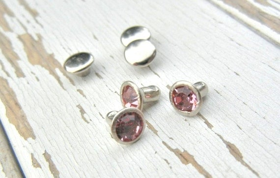 New Colors - 6mm Crystal Rivets - PINK COLOR - Great for Adding to ...
