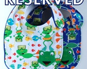 RESERVED Frog Bibs