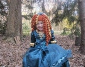 Scottish princess curly wig hat
