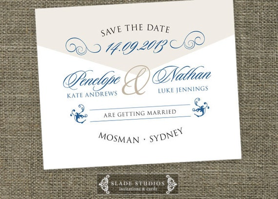 Formal Script wedding invitation enclosure card set printable.