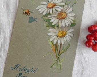 Bee and Daisy 1908 Postcard