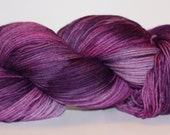 SALE MCN - Pampered Sock- 100 grams Color Purple Passion Hand Dyed Yarn - HauteKnitYarn
