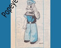 Popeye 16 inch doll sewing pattern uncut mail Order 729