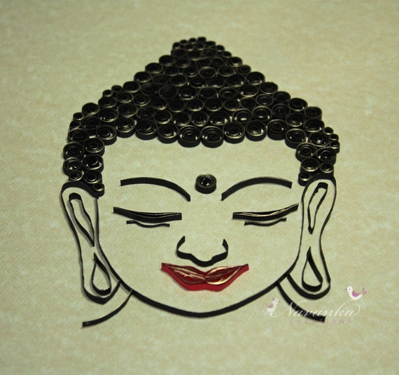 Buddha Wall Art With Paper Quilling