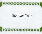 Custom Quilt Label Hanover Tulip