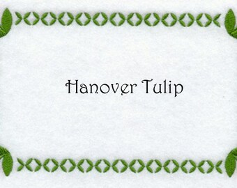 Hanover Tulip Embroidered Custom Quilt Label Made to Order