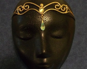 Bronze Two Crystal Circlet