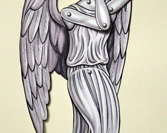 Weeping Angel Articulated Paper Doll - Don't Blink