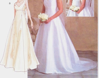 Womens Empire Waist Fit And Flare Wedding Gown Vogue Sewing Pattern V2788 Size 12 14 16