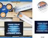 Nerf Sign 8x10 - Printable Party Decorations - PERSONALIZED Blue Orange