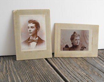 Pair of early 1900's photographs Flora Indiana